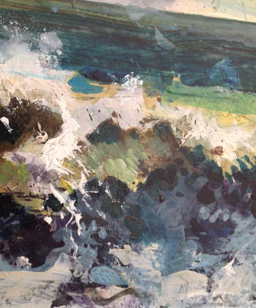 Painting of waves by Nic Cowper