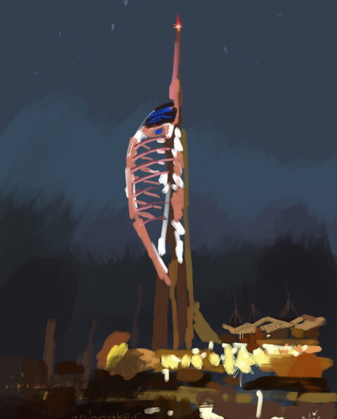 Spinnaker Tower, Portsmouth, Ipad drawing