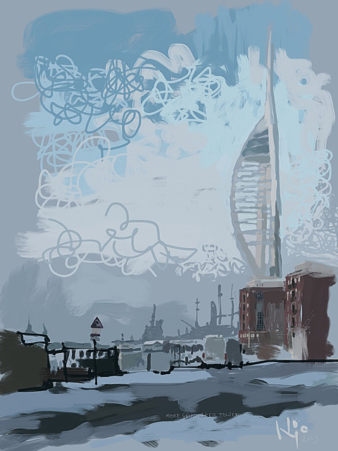 Spinnaker Tower, Portsmouth UK by artist Nic Cowper