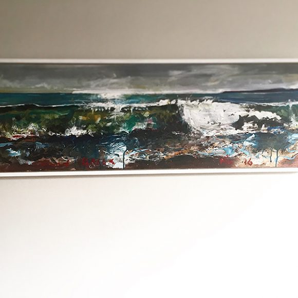 Original painting by Nic Cowper, mixed media onto board.
