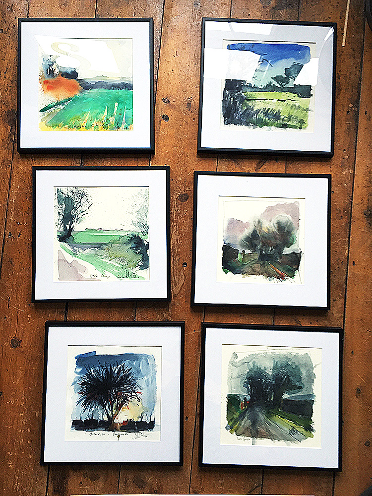 Nic cowper framed watercolours