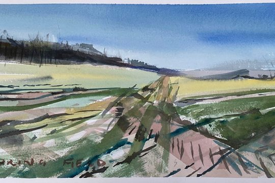 Responding to early Spring light, English countryside and the South Downs
