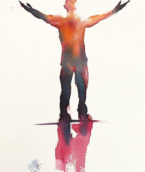figure in light
